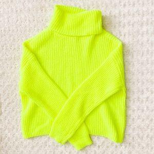 NWOT- SO Neon Turtleneck Knit Sweater
